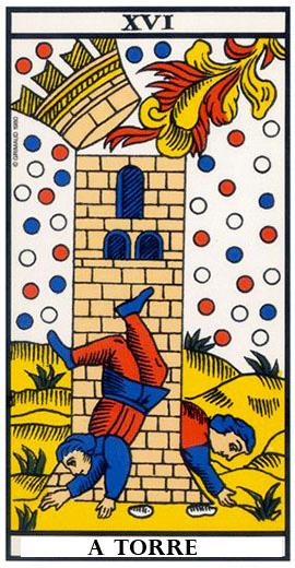 A Torre no tarot online - EvaTarot.com.br